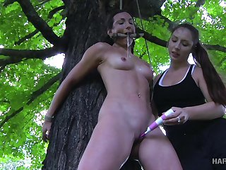 Cruel mistress is punishing tied up bitch Wenona