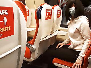 Public dick flash on the train. Stranger girl jerked me off.