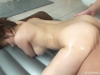 Marvelous scenes of doggy sex with a naked Japanese mature