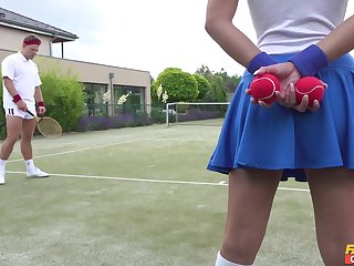 Tennis court attendant Amirah Adara is a huge fan of the top players